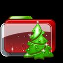 Christmas Folder Tree icon