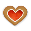 christmas cookie heart icon