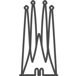barcelona sagrada icon