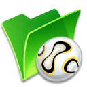folder ball icon