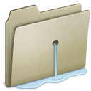 Lightbrown Water leak icon