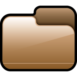 Folder Closed Brown icon