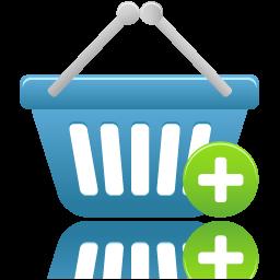 shopping basket add icon